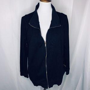 Jones New York Sport Black Zip Up Jacket